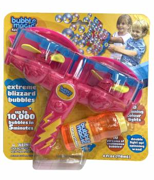 Bubble Magic Spinning Lights with Wand - Pink