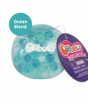 Squeezables Clear/Zorbeez Blue, Teal, Clear