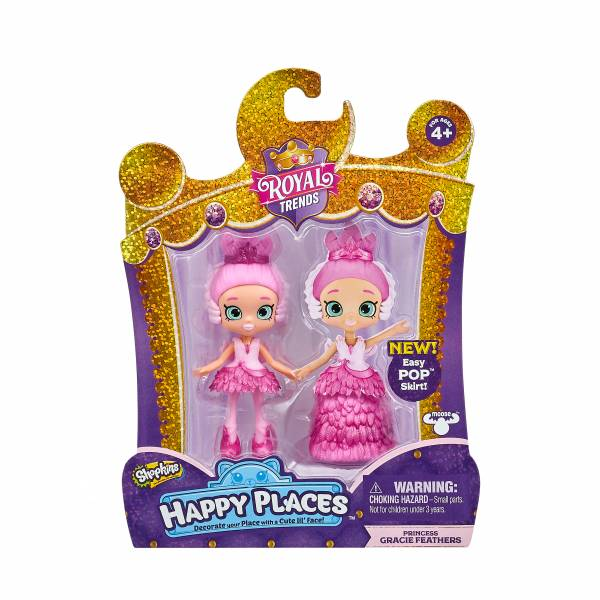 Shopkins Happy Places Single Doll Pack - Princess Gracie Feathers