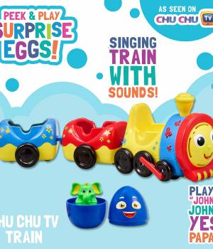 Peek & Play Surprise Eggs CCHU TV S1 Chu Chu Train
